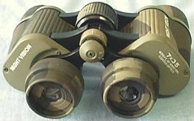 Day/Night Vision Binoculars: Back View