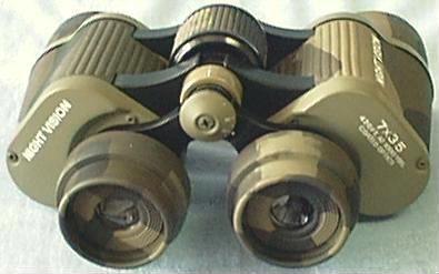 Day/Night Vision Binoculars: Back View