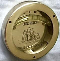 Brass Clinometer, Side View