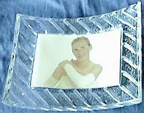 Lead Crystal Photo Frame. Back