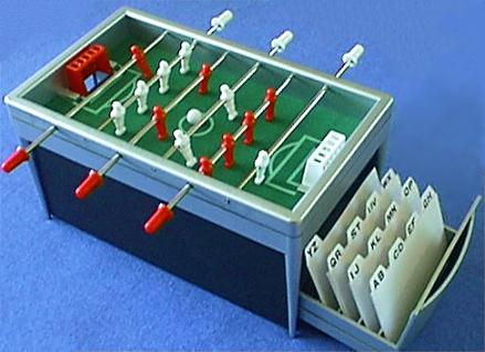 Miniature Foosball Table/Index Card Holder