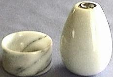 White Marble Kaleidoscope and Base