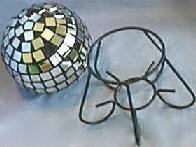 Disco Mirror Ball and Stand