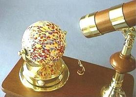 Kaleidoscope Globe and Music Box Key