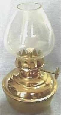Mini Brass Hurricane Lantern