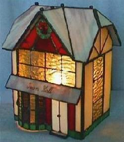 Tiffany Lamp. Right View, light On