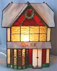 Tiffany Lamp. Front View, light On