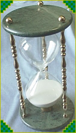 Brass Marble and Hourglass