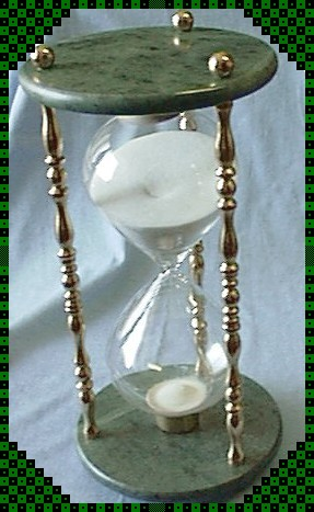 Marble and Brass Hourglass