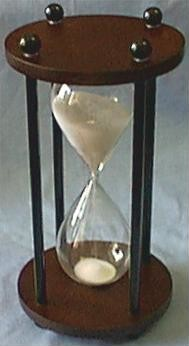 Dark Wood White Sand Timer