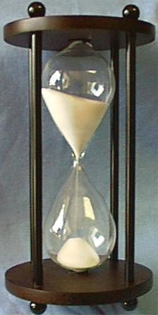 Dark Wood Hourglass