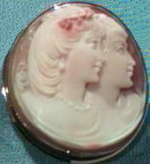 Double Profile Cameo. Closeup View