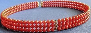 Spring Loaded Red Coral Choker