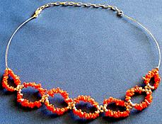 Extended Coral Necklace/Choker