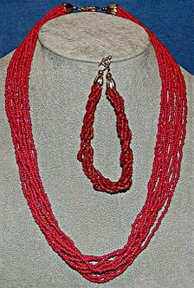 Red Coral Bead Necklace/Bracelet