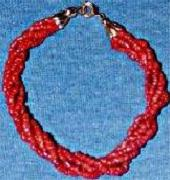 Red Coral Bead Bracelet