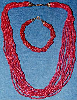 Indian Coral Bracelet and Necklace