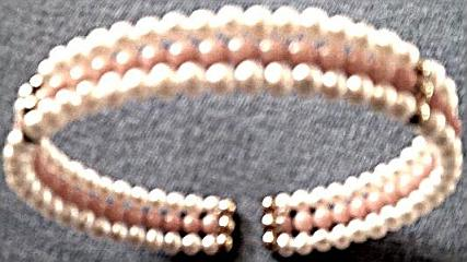Pink Coral And Pearl Bracelet