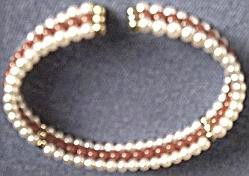 Pearl and Red Coral Bracelet, Inside View