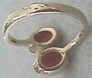 Red Coral Ring, Back View