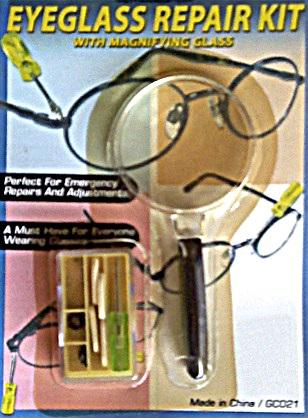 Eyeglass Repair Kit With Magnifier