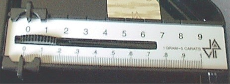 Triple Beam Scale Display