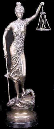 Lady Justice Statue, 30-inch Classic Scales