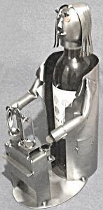 Female Wine Caddy With Scales
