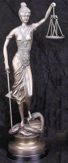 Lady Justice, 30-inch Classic
