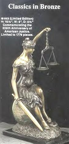 Sitting Lady Justice, Limited Edition