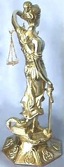 Brass Lady Justice, Back View