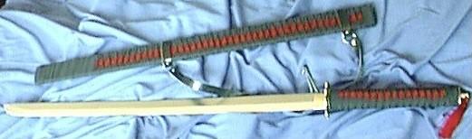 Red abd Black Samurai Sword