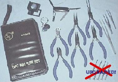 Pliers, Cutters, Magnifiers, Tweezers and Pocket Tool/Knife Set